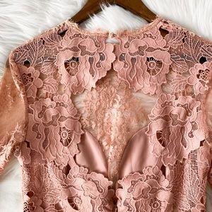 "SAYLOR Dresses - Saylor Pink ""Leondra"" Lace Dress"